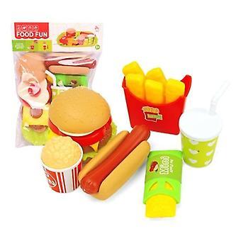 22pcs Kitchen Food Play House Simulation Burger Fries Hot Dog Set