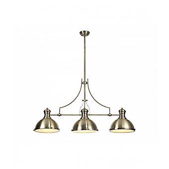Arianna Design Lámpara Colgante 3 Bombillas Latón Antiguo 30 Cm