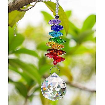 H&d Chakra Crystal Suncatcher Chandelier Crystal Ball Prisms Pendant Rainbow