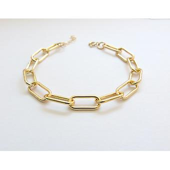 Chunky Gold Paperclip Chain Bracelet