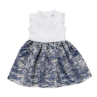 Navy Jacquard Dress