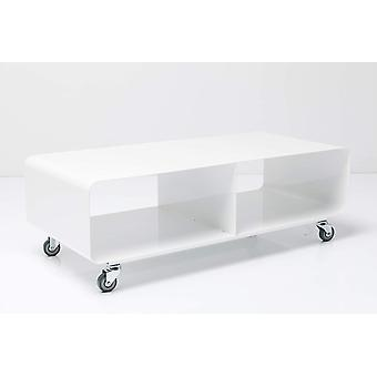 Kare Design Lounge M TV Mobil, Hochglanz Lack, modernes, schmales Lowboard Mbel im Retro-Look,