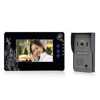 2X 7 \ لوحة LCD مراقبة الفيديو الاتصال الداخلي الهاتف الباب
