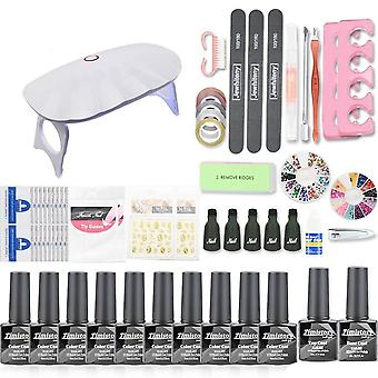 Maniküre Nagel 30pcs Gel Nagellack Kit 120w Uv Lampe Set