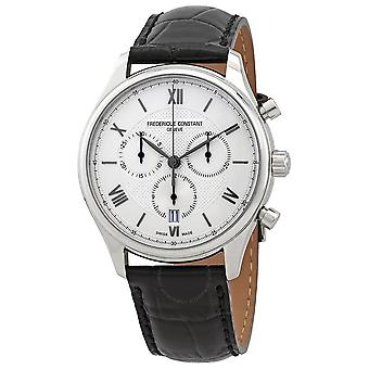 Frederique Constant Classics Chronograph Quartz Silver Dial Men's Watch FC-292MS5B6