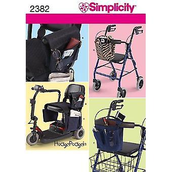 البساطة نمط الخياطة 2382 ووكر أكياس كرسي متحرك