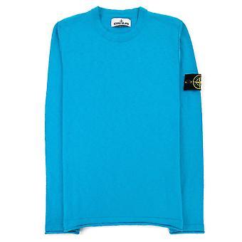 Stone Island 502b0 Fine Knit Sweater Sky Blue