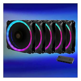 Antec Prizm 120Mm Argb Fan 5+C 5 In 1 Pack With 5X 12Cm Rgb Dual Ring