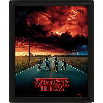Stranger Things Framed 3D Picture Mind Flayer