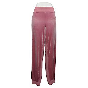 All Worthy Hunter McGrady Women's Pants Velvet Jogger Pink A389051