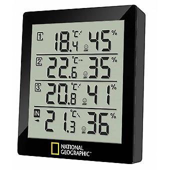 weather station 11.9 x 10.4 cm black 4-piece