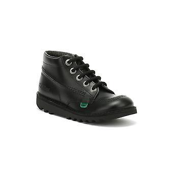 Kickers Kick Hi Toddlers Black Leather Boots