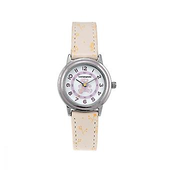 Watch Girl LuluCastagnette DOUCE AnalogAlo White dial Beige leather strap