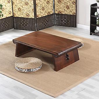 Trä låg rektangel tebord för vardagsrum