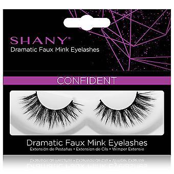 SHANY Classic Faux Mink Ögonfransar - Hållbart enkelpar 3D återanvändbar fluffig och mjuk remsa frans med medelhög volym