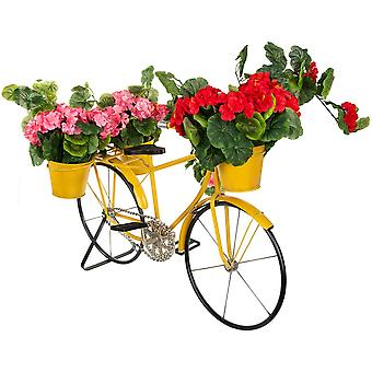 Blomma står gul cykel - 3 blomkrukor