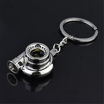 Turbocharger Spinning Turbine, Key-chain Ring, Car Interior Accessories