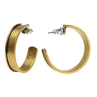 Nunn Design Earring Findings, Hoop 28.5mm, 1 Pair, Antiqued Gold