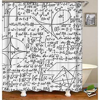 Mustavalkoinen yhtälöt suihku verho