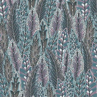 Amazonia Amherst Purple Wallpaper Holden 91303