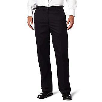 IZOD Men's American Chino Flat Front Straight-Fit Pant, Black, 32W x 34L