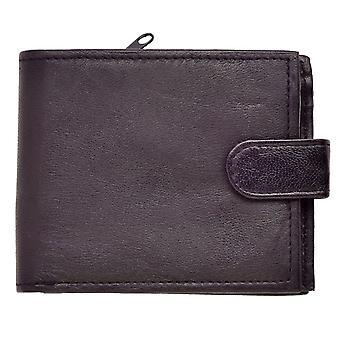 Lederen portemonnee voor heren met rits muntstuk