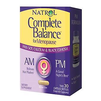 Natrol Complete Balance AM/PM Menopause Formula, 30AM+30PM Caps