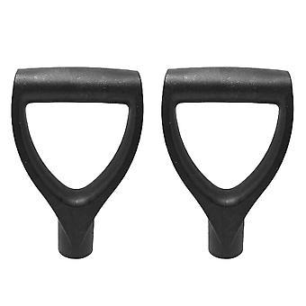 2pcs Plastic Shovel Handles Portable Grip Handles Digging Raking Tools