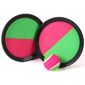 Paddle Toss en Catch Ball Set- 7inch Paddle Catch Games Speelgoed 2 Rackets 1 Bal (Zwart)