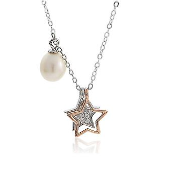 Women Necklace Gold Plated Pearl S925 Pendant Clavicle Chain For Ball