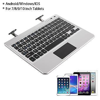 Multifunctioneel draagbaar aluminium Bluetooth-toetsenbord geschikt voor 7/8/9/10 inch tablets