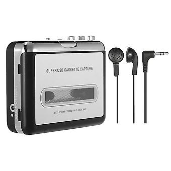 Portable Cassette Player, Tape Player, Captures Recorder Via Usb, Compatible