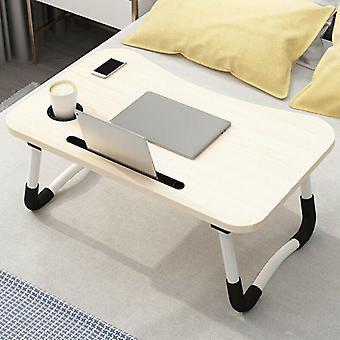 (Beige) Draagbare verstelbare opvouwbare laptop bureau opvouwbare studie computer bed tafelstandaard