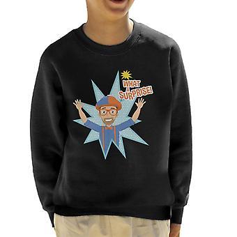 Blippi Animated What A Surprise Kid's Sweatshirt