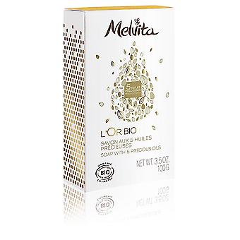 Melvita L'Or Bio Savon Aux 5 Huiles Précieuses 100 Gr Para Mujeres