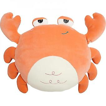 45*32cm Crab Rich Man Plush Toy Soft Bed Comfortable Doll Red)
