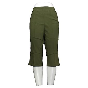 Susan Graver Leggings Ultra Stretch Pull-on Pedal Pushers Pocket Green A254358