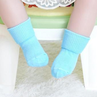 5 Pairs New Solid Color Soft Cotton Newborn Baby Socks Non-slip Soled Warm Cotton Toddler Floor Socks For Boy Girl Winter Autumn
