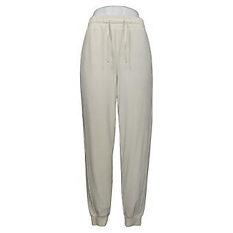 Soft & Cozy Women's Pants Reg Polyester Jogger Ivory 627589