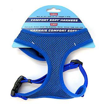 "Coastal Pet Comfort Soft Adjustable Harness - Blue - X Small - 5/8"" Width (Girth Size 16""-19"")"