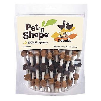 Pet n Shape Chik'N Duck Kabobs All Natural Rawhide Dog Treats - 16 oz