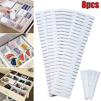 (8PCS) Verstellbare Schubladenteiler Organizer Socken Aufbewahrungstrenner