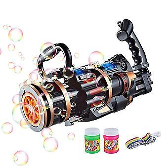 חם 2 ב 1 Gatling אקדח בועה ילדים בועות צעצוע לילדים צעצוע חוצות לילדים חתונה למבוגרים
