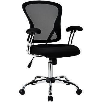 Mesh Home Ergonomic Desk And Computer Chair With Lumbar Support, Armrest For Back Pain