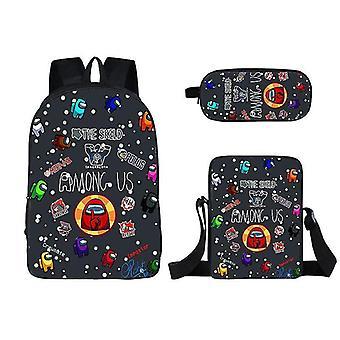 Pen pencil cases 26 3pcs among us backpack schoolbag pencil bag student