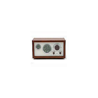 Alarm clocks sy-601 retro design wooden compact digital fm radio with led time temperature display alarm clock