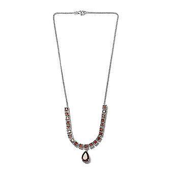TJC Kirsche Citrin Kragen HalsketteSilber Geschenk für Frau/Mutter 18 '' 21.02ct