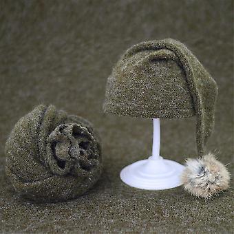 2 stuk set van super schattige pasgeboren fotografie rekwisieten deken en gebreide hoed beanie (Wrap en