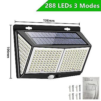 308 Led luce solare per esterni 3 modalità ip65 impermeabile moderna lampada da parete con sensore di movimento pir strada