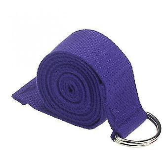 1,8 mx3.8cm Yoga Strap Justerbar D-ring Holdbar Bomuld Motion stropper Spænde (Lilla)